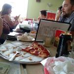 nearly decimated pizza