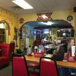 Part of the restaurant interior.