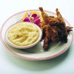 Fried Quail with Grits