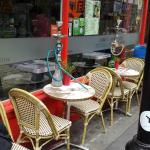 Outside pavement tables