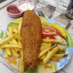 Cremated beer battered fish and chips