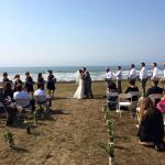Ceremony on the lower lawn of the Yachts Inn