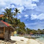 California Coral Beach Resort Behind Alubihod Beach Hut, Guimaras Island, Philippines