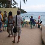 California Coral Beach Resort Cafe Terrace On Alubihod Beach, Guimaras Island, Philippines