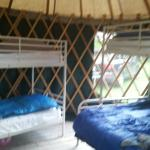 Yurt inside and out