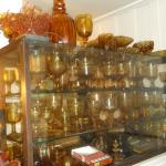 A small part of the owner's amber glass collection.