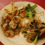 A sample of dishes from the buffet