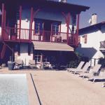 Arrière piscine
