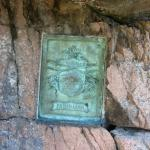 Plaque on the trail