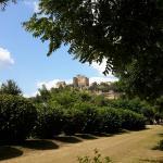 Vue du château de Beynac depuis notre emplacement
