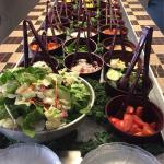 Salad Bar with all dinners, the tastiest fried seafood around, full bar, and lemon lust pie, and
