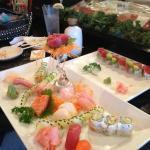 Sushi/Sashimi Dinner and Valentine roll