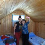 Inside the beach hut at Gura Portitei