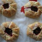 Little strawberry rhubarb pies