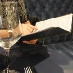 Perusing the menu