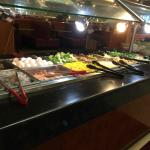 raw bar (meat/veg) to choose for your made to order dish