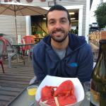 My first Maine lobster! Had the lobster roll. Wish I had gotten the steamed lobster by the pound