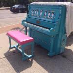 A nearby piano that you can play