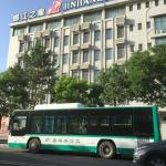 Hotel exterior and local bus