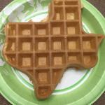 Texas shaped waffles! (my friend flipped hers on the plate, lol
