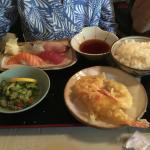 Tempura and sashimi combination