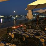 full moon Valletta Grand Harbour view from Cafe Deux Baronnes