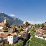 Panorama-Blick auf unser Dorf / Haus