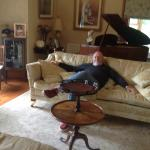 Dave relaxing in Drawing Room