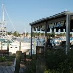 Open air dining and boat watching
