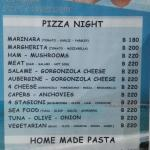 Pizza & Pasta menu
