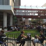 Great patio for pre-game