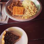 Smoked turkey plate and pecan pie