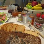 Fresh buffet style continental breakfast