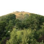 Cottage 21.  View of Dinas Bran Crow Castle from back