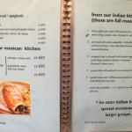 From the restaurant menu