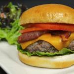 Great natural beef cheese burger