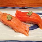 Ocean trout raw and aburi