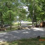 Campground surrounded by KY Lake and coves