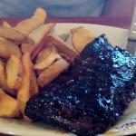 Caroline Pork Ribs with Wedge Fries