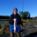 Sockeye salmon fishing fun