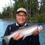 Silver salmon fishing fun