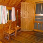 Front bedroom in the 2 room kabin.