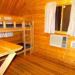 2 sets of bunks in the 2 room kabin.