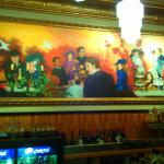 View of historic mural from the bar