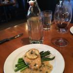 Chicken Piccata with water bottle