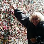 At the Gum Wall at the Pike Place Market in Seattle, WA