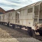 Antiguos vagones de carga de una automotriz
