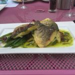 Seabass with crushed potatoes