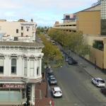 ホテルからのオークランド市街の眺め