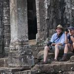 A casual Moment with Adam at the Bayon temple